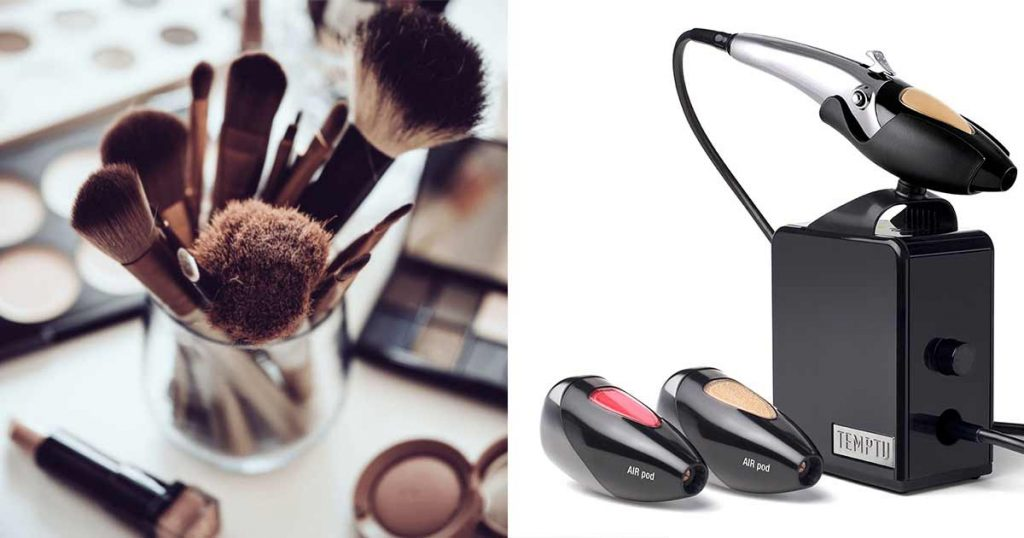 brushes vs airbrush makeup